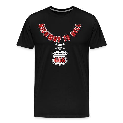 Highway 2 hell amsterdam - Mannen Premium T-shirt