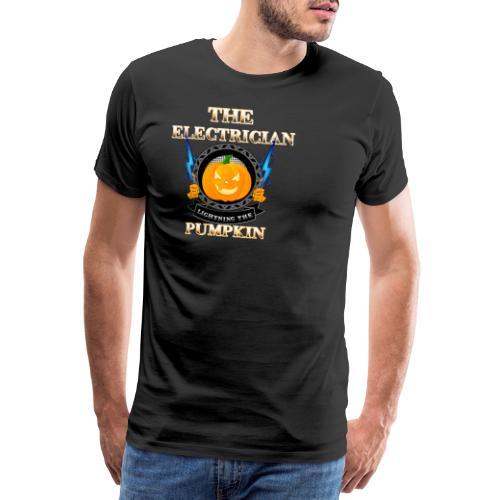 The Electrican lightning the Pumpkin - Männer Premium T-Shirt