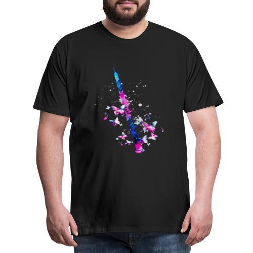 Flöten Schmetterling Flöte Instrument - Männer Premium T-Shirt
