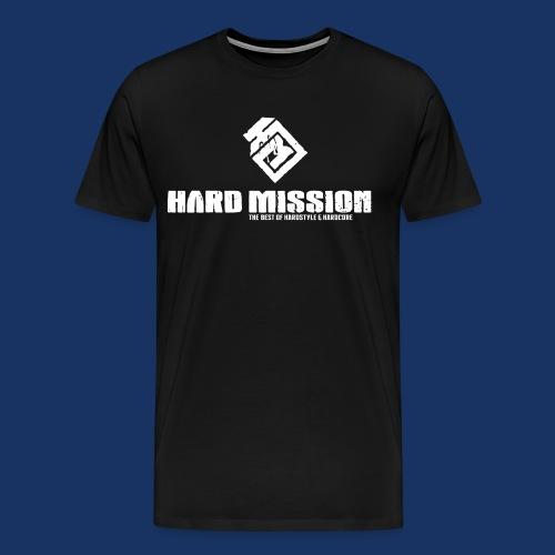HARD MISSION LOGO Weiß - Männer Premium T-Shirt