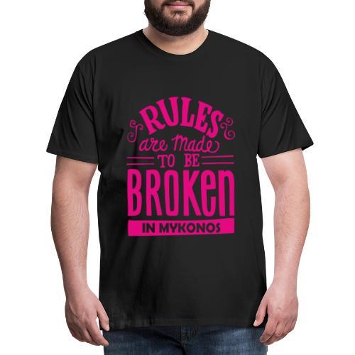 Mykonos Rules - T-shirt Premium Homme