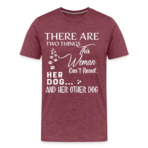 Her dog and her other dog shirt - Men's Premium T-Shirt