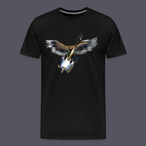 Greifvogel mitGitarrenbeute - Männer Premium T-Shirt