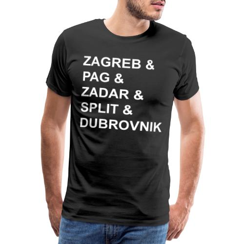 Zagreb & - Men's Premium T-Shirt