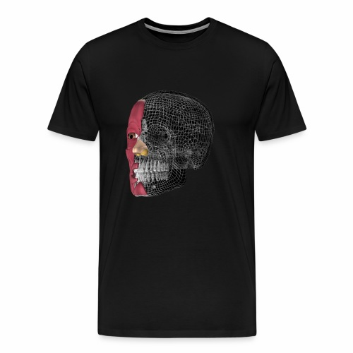 Schädel 3D - Männer Premium T-Shirt