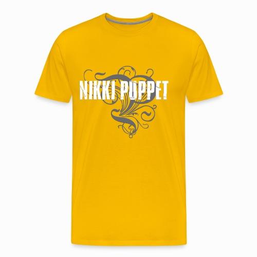 NIKKI PUPPET LOGO weiss - Männer Premium T-Shirt
