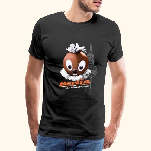 Pittiplatsch 3D Berlin auf dunkel - Männer Premium T-Shirt