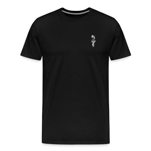 The Palm - Logo [WHITE] - Men's Premium T-Shirt