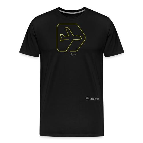 Netzpiloten Logo weiss - Männer Premium T-Shirt