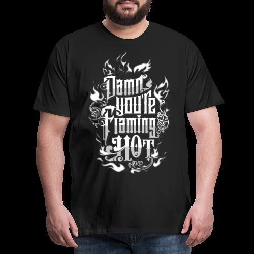 Flaming Hot (BlackW) - Herre premium T-shirt