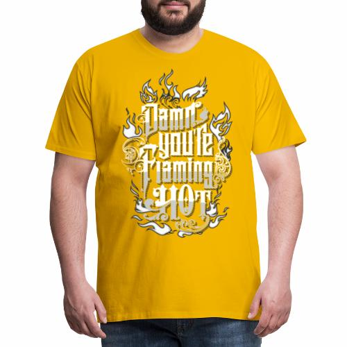Flaming Hot (BlackW) - Herre premium T-shirt