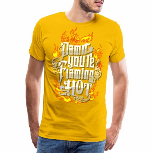 Flaming Hot (3) - Herre premium T-shirt