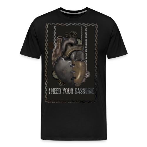 corazón sin gasolina - Camiseta premium hombre