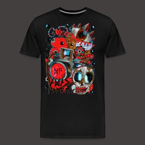 AGAC Picture Rouge et Bleu - T-shirt Premium Homme