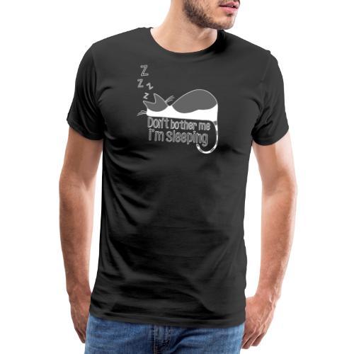 Sleeping cat gray white - Men's Premium T-Shirt