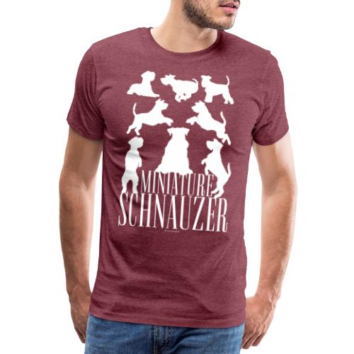 Miniature Schnauzer - Miesten premium t-paita