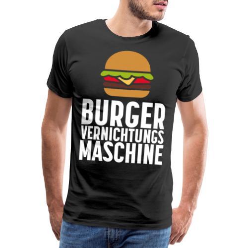 Burger essen Burger braten Burger Aufbau Shirt - Männer Premium T-Shirt