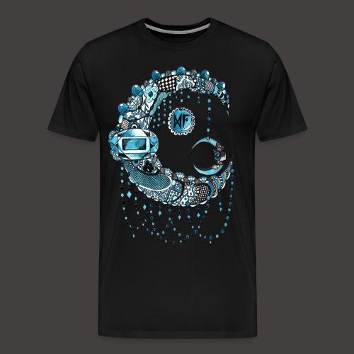Lune dentelle bleue - T-shirt Premium Homme