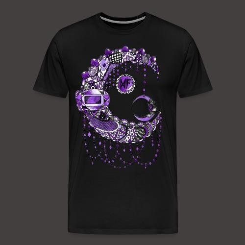 Lune dentelle Violette - T-shirt Premium Homme