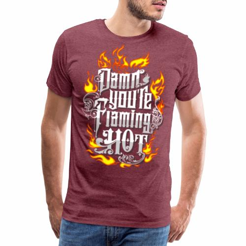 Flaming Hot (3) - Herre premium T-shirt