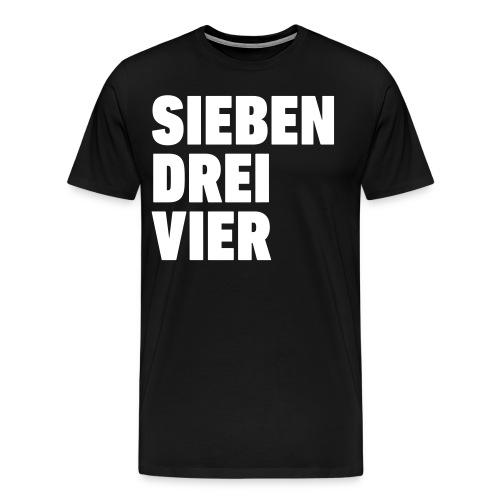 734 Sieben drei vier - Männer Premium T-Shirt