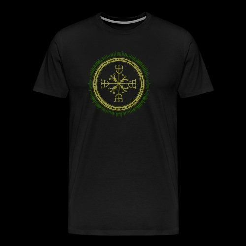 Norse Runes with Aegishjalmur 2017 - Men's Premium T-Shirt