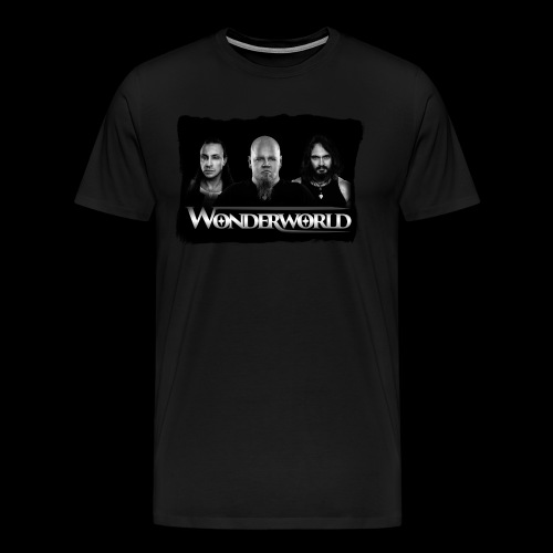 Wonderworld Black and white - Premium T-skjorte for menn
