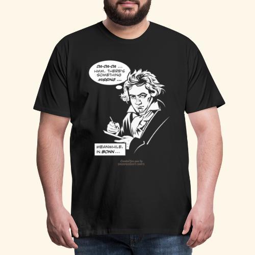Beethoven T-Shirt Comic Fünfte Symphonie Beethoven - Männer Premium T-Shirt