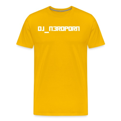 DJ N3rdPorn White - Miesten premium t-paita