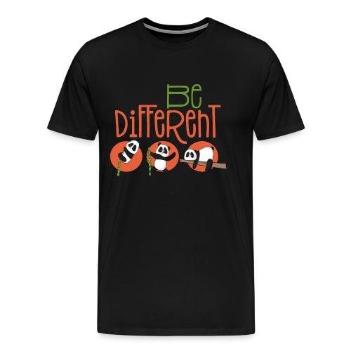 Be Different Panda Bär - be yourself - Männer Premium T-Shirt