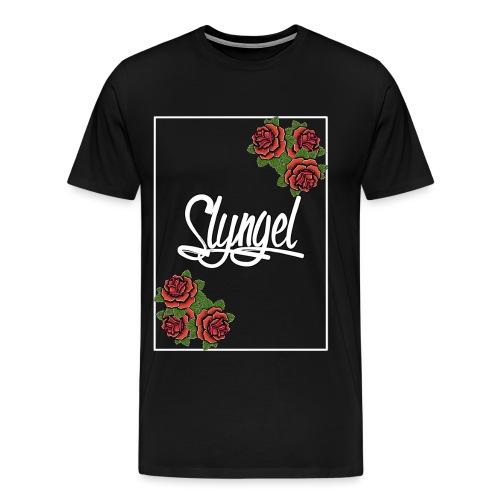 Rose Slyngel Border - Premium T-skjorte for menn