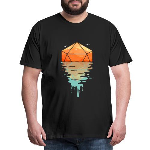 Rippling d20 - D & D Donjons et dragons dnd - T-shirt Premium Homme