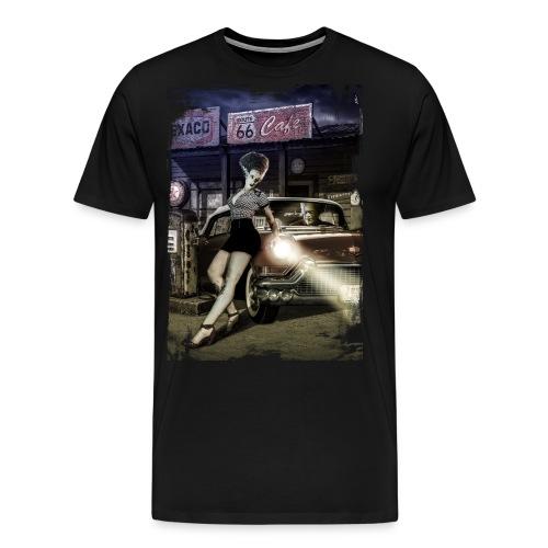 monster_cadillac_vertical_color - Camiseta premium hombre