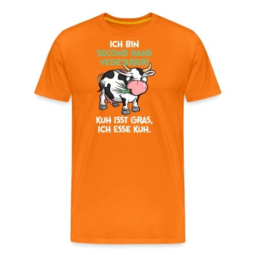 Ich bin second Hand Vegetarier - Kuh isst Gras,... - Männer Premium T-Shirt