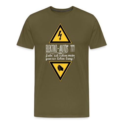 Elektroautos weiss - Männer Premium T-Shirt