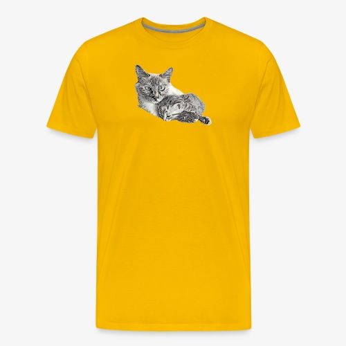 Snow and her baby - Men's Premium T-Shirt
