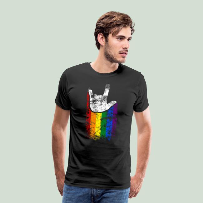 ILY Handsign Regenbogen