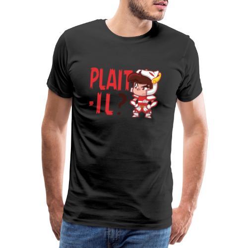 Seiya - Plaît-il ? (texte rouge) - T-shirt Premium Homme