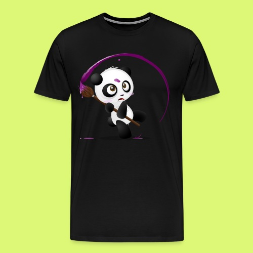 Painting Panda - Männer Premium T-Shirt