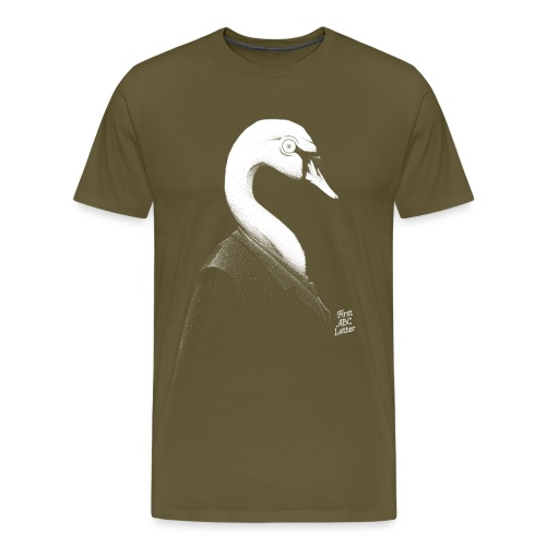 White Swan dressed in Black - Men's Premium T-Shirt