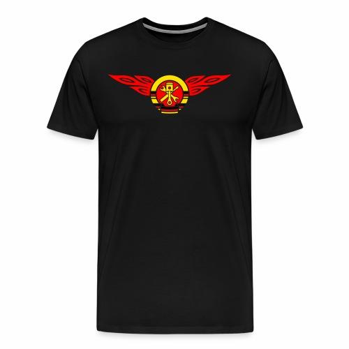 Car flames crest 3c - Men's Premium T-Shirt