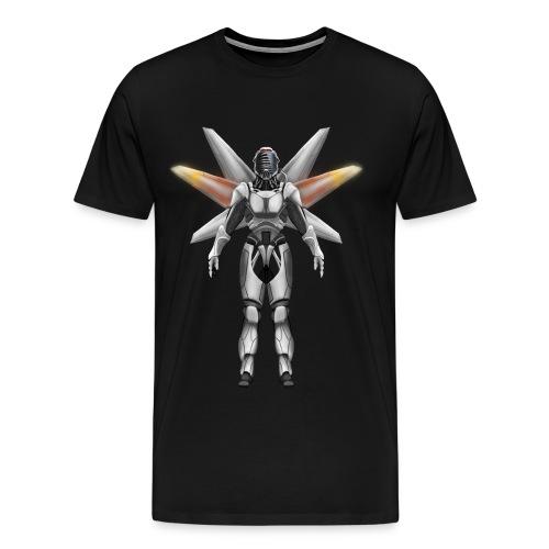 Robot with wings - Men's Premium T-Shirt