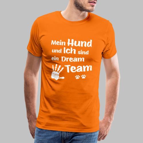 Mein Hund und ich sind ein Dream Team - Hundepfote - Männer Premium T-Shirt
