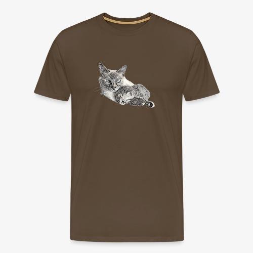 Snow and her baby - Men's Premium T-Shirt