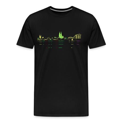 KÖLSCII (PETSCII-Köln-Panorama) - Männer Premium T-Shirt