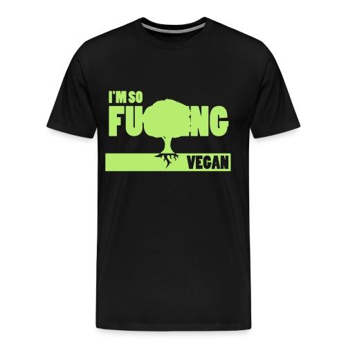 F-ing Vegan - Premium-T-shirt herr