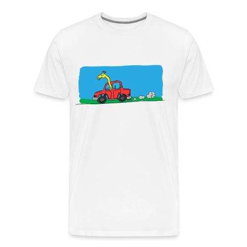 La girafe conductrice - T-shirt Premium Homme