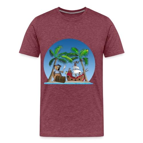 Pirat - Piratenschiff - Schatzinsel - Männer Premium T-Shirt