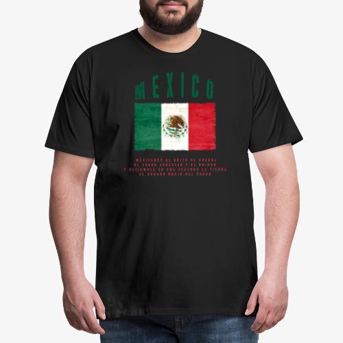 Mexican Flag Bandera Mexico - Männer Premium T-Shirt
