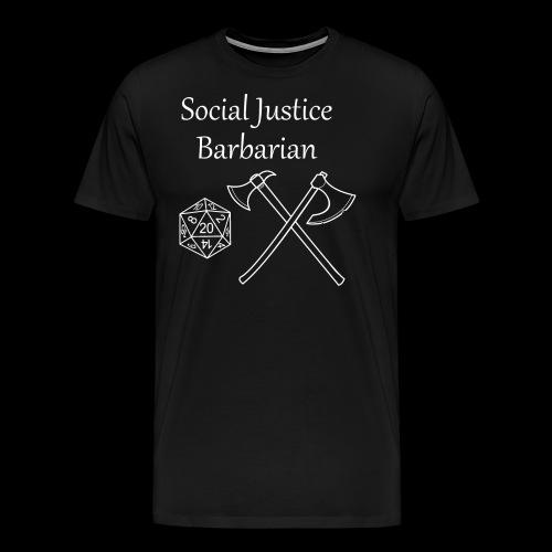 Social Justice Barbarian - Men's Premium T-Shirt